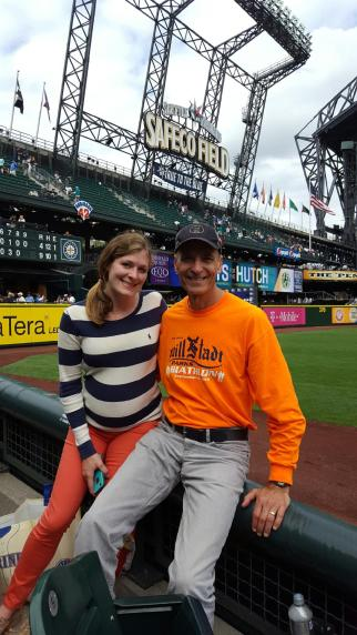 Mariners game (27 weeks pregnant)